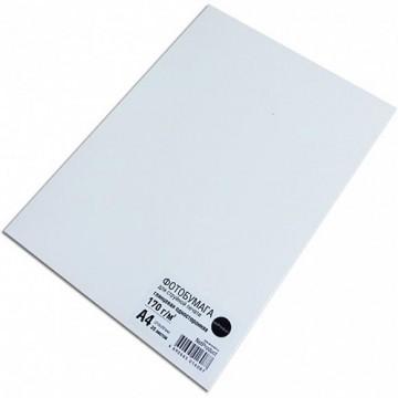Фотобумага глянцевая односторонняя (NetProduct), A4, 170 г/м, 20л.