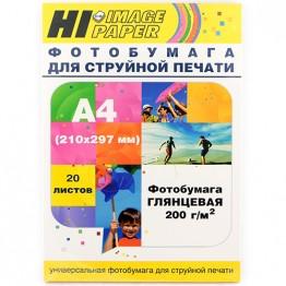 Фотобумага глянцевая односторонняя (Hi-Image Paper) A4, 200 г/м, 20 л.