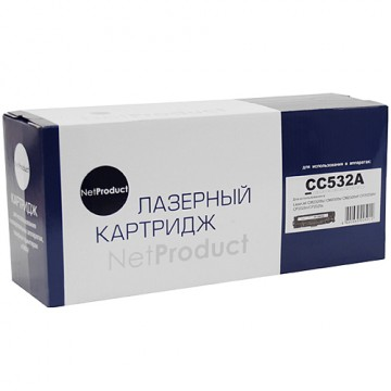 Картридж лазерный HP CC532A/718 (NetProduct)