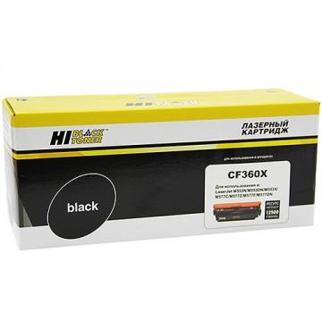 Картридж лазерный HP 508X, CF360X (Hi-Black)