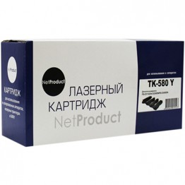 Картридж лазерный Kyocera TK-580Y (NetProduct)