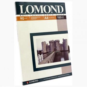 Фотобумага матовая односторонняя (Lomond) A4, 90г/м, 100л. (0102001)