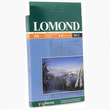 Фотобумага матовая односторонняя (Lomond) 10х15, 230г/м, 50л. (0102034)