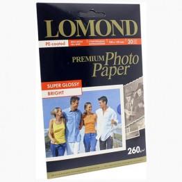Фотобумага Super-Glossy односторонняя (Lomond) 10х15, 260г/м, 20л. (1103102)