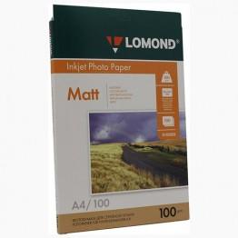 Фотобумага матовая двусторонняя (Lomond) A4, 100г/м, 100л. (0102002)