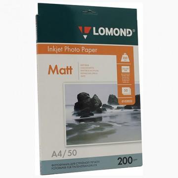 Бумага Lomond A4 200г/м2 2-ст, матовая 50л (0102033)
