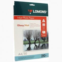Фотобумага глянц/матовая двусторонняя (Lomond) A4, 210г/м, 50л., (0102021)