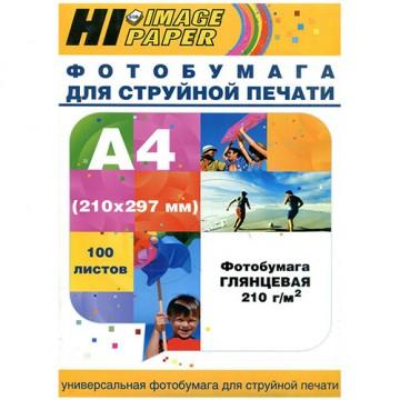 Фотобумага глянцевая односторонняя (Hi-Image Paper) A4, 210 г/м, 100 л.