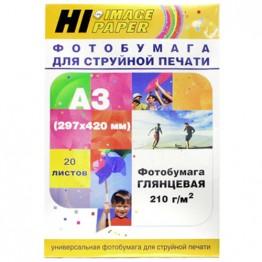 Фотобумага глянцевая односторонняя (Hi-Image Paper) A3, 210г/м, 20 л.