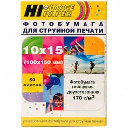Фотобумага глянцевая двусторонняя (Hi-Image Paper) 10x15, 170 г/м, 50 л.