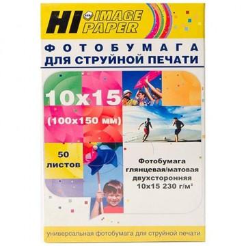 Фотобумага глянц/матовая двусторонняя (Hi-Image Paper) 10x15, 230 г/м, 50 л.