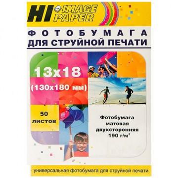 Фотобумага матовая двусторонняя (Hi-Image Paper) 13x18, 190 г/м, 50 л.
