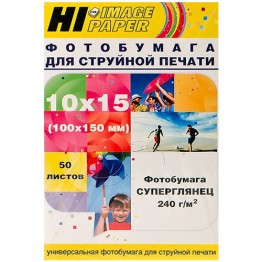 Фотобумага суперглянец односторонняя (Hi-Image Paper) 10x15, 240 г/м, 50 л.
