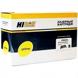 Картридж лазерный HP 642A, CB402A (Hi-Black)