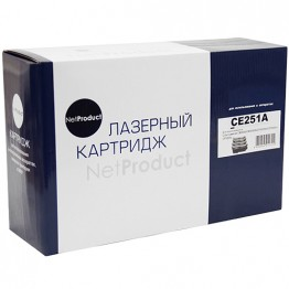 Картридж лазерный HP 504A, CE251A (NetProduct)