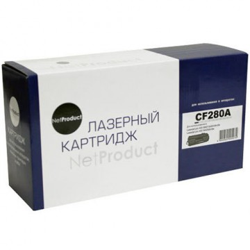 Картридж лазерный HP 80A, CF280A (NetProduct)