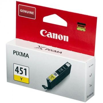 Картридж струйный Canon CLI-451Y, 6526B001
