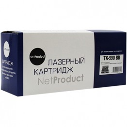 Картридж лазерный Kyocera TK-590BK (NetProduct)