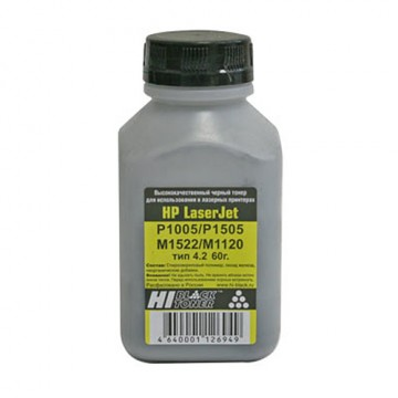 Тонер HP LJ P1005/P1505/ProP1566/ProP1102 (Hi-Black), Тип 4.2, 60 г, банка