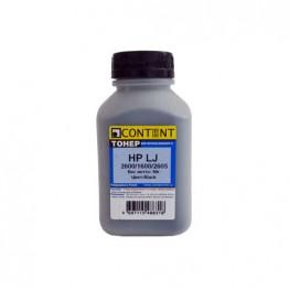 Тонер HP CLJ 2600/1600/2605 (Content), Тип 1.2, BK, 90 г, банка