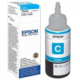 Чернила Epson L100/110/200/210/300/355/550/555 (Original), C13T66424A, C, 70ml
